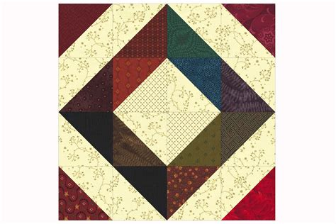 Patchwork Quilt Blocks - easy patchwork scrap quilt block pattern