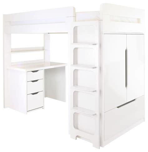 Aspace Farringdon High Sleeper by Farringdon High Sleeper With Desk Modern Beds