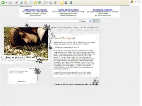 Myspace Search For Without Logging In Stay Beside Me Myspace Layouts Createblog