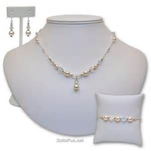 Handmade Wedding Jewelry - pearl bridal jewelry set handmade xcitefun net