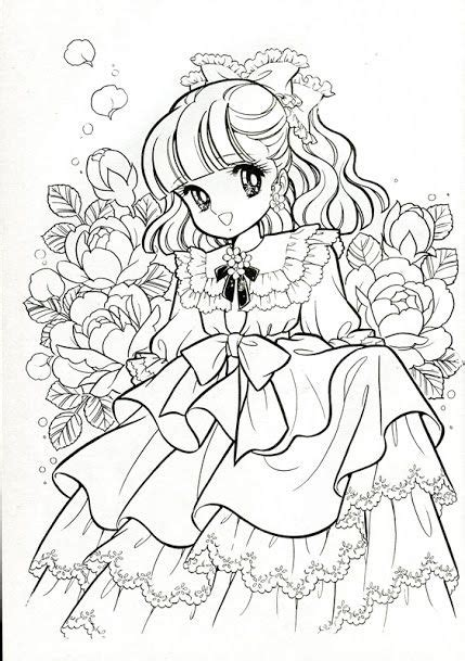 vintage japanese coloring book 9 shoujo coloring for manga coloring vintage japanese coloring book 7 manga adult and