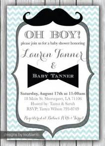 mustache and bow tie baby shower invitations theruntime