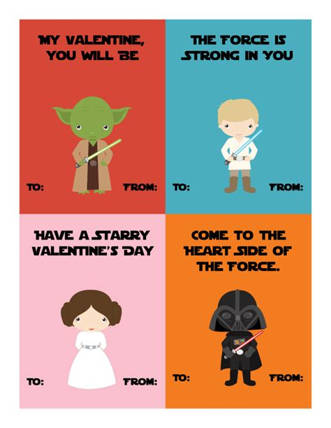 printable valentines star wars star wars valentines and light saber treat the joys of boys