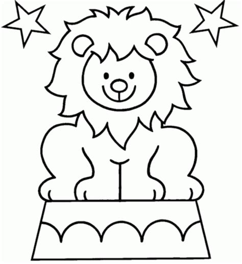 circus lion coloring pages cartoon lion pictures for kids coloring home