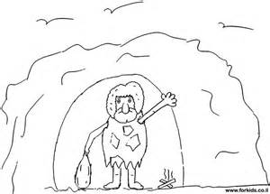 Coloring Page Of CaveMan  WwwForkidscoil Pages Pintere sketch template
