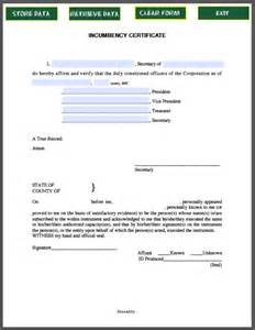 corporate resolution authorized signers template incumbency certificate template free fillable pdf forms