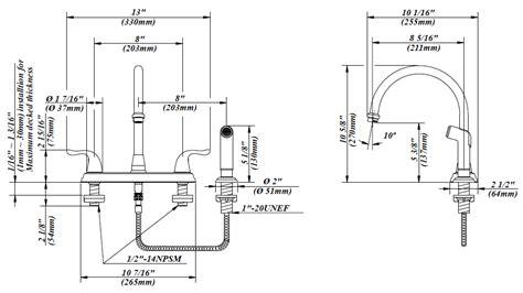 Matco Norca Faucets Two Handle Kitchen Faucet Bl 260ss