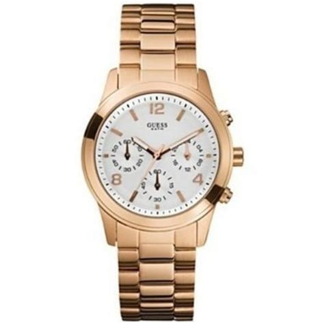 Guess 3chrono Gold guess u13578l5 chrono white gold stainless steel