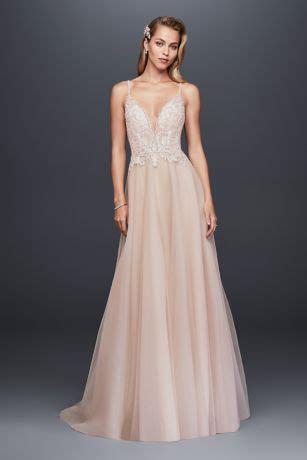 as is beaded bodice organza a line wedding dress | david's