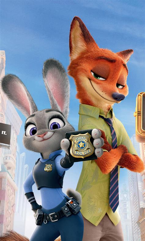 Wallpaper Iphone 6 Zootopia | 1280x2120 zootopia judy hopps and nick iphone 6 hd 4k