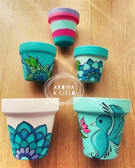 paint projects on pinterest painted flower pots m 225 s de 25 ideas fant 225 sticas sobre macetas pintadas en