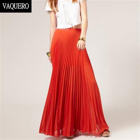 aliexpress buy pleated maxi skirt jupe longue skirt summer style bohemian