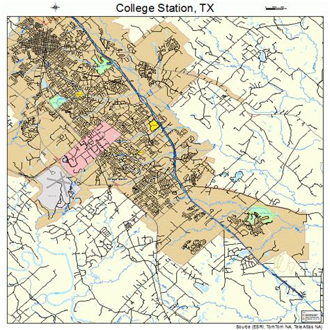 texas station map college station texas map 4815976