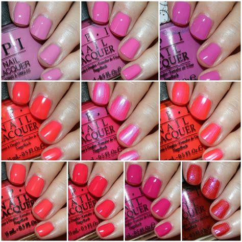 opi pink colors my favorite pink opi nail lacquer colors vy varnish
