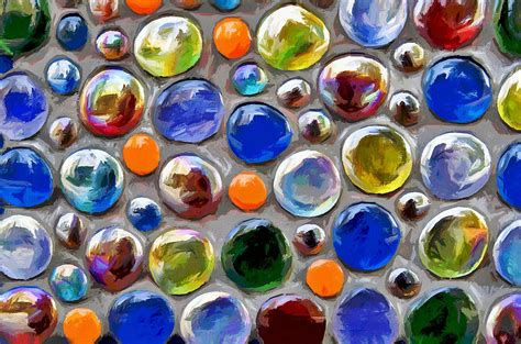 Colored Glass by Abstract Digital Multi Colored Glass Balls Photograph By Aleksandr Volkov