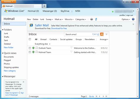 how do i backup my hotmail or outlook image gallery open my msn inbox
