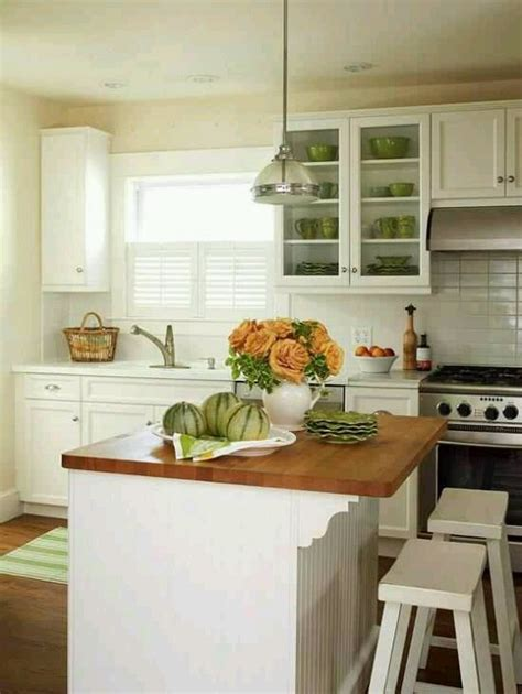 small kitchen with island design ideas small cottage kitchen cottage ideas pinterest