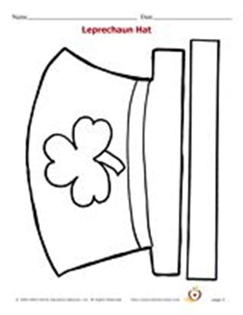 leprechaun hat template st patrick s day pinterest