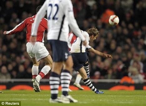 David Bentley Goal Arsenal 4 Tottenham 4 Spurs Harry Enjoys Great