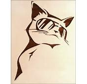 Cat Stencil By Z E A L O U S On DeviantArt