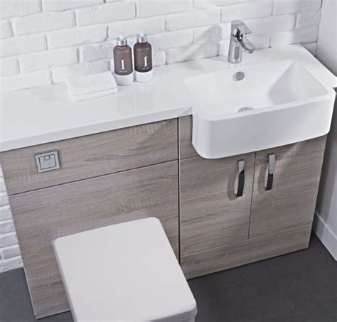 Combined Bathroom Vanity Units Tavistock Courier 1200mm Rh Oak Montana Or White Gloss Vanity Unit With Rh Isocast Basin