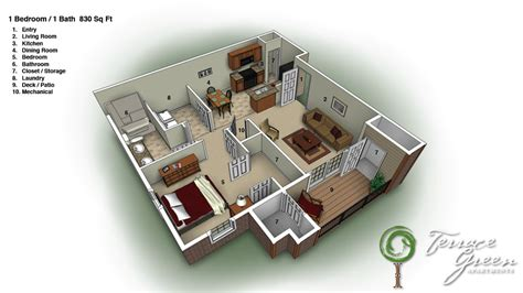 1 bed 1 bath house floor plans terracegreenbranson com