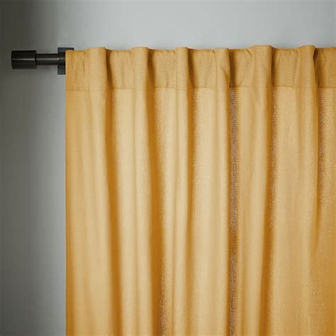 pole pocket drapes linen cotton pole pocket curtain horseradish west elm