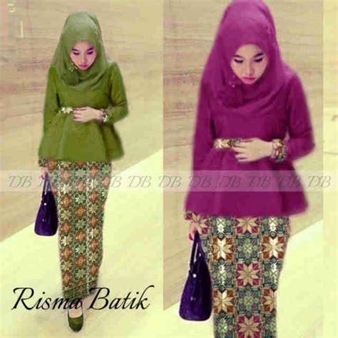 Kebaya Modern Risma Batik 221114 by Busana Pesta Songket Risma P893