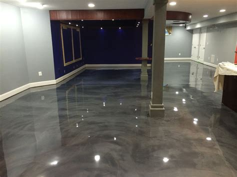 designer epoxy basement floor in manassas va reflector metallic epoxy floor decorative