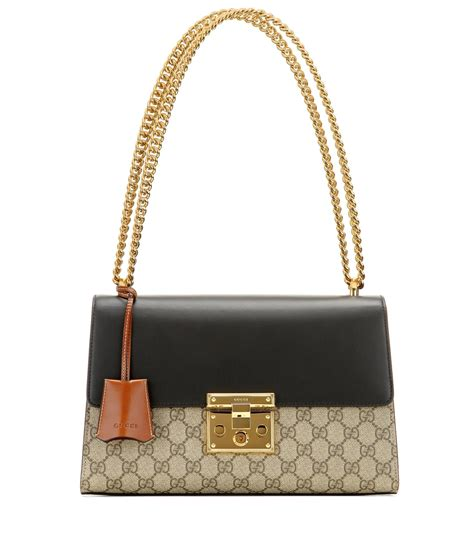 Gucci Handbag by Gucci Padlock Gg Supreme Medium Leather And Coated Canvas