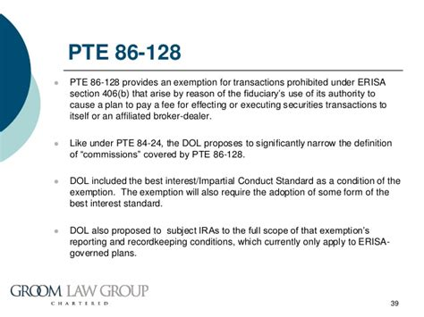 erisa section 406 dol s fiduciary definition re proposal