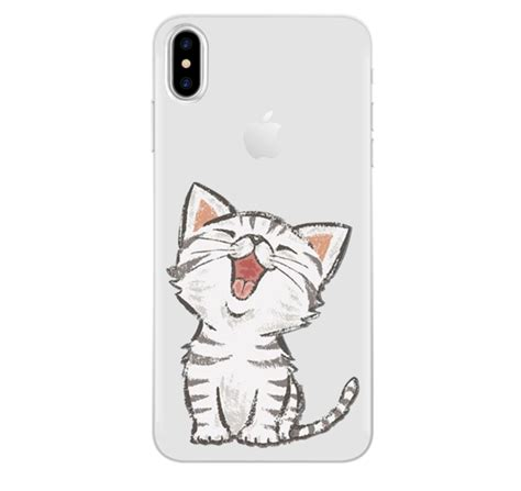 iphone x 8 7 7 plus 6 6s 5 5s 5 se 5c 4 4s silicon printed cat the swet shop