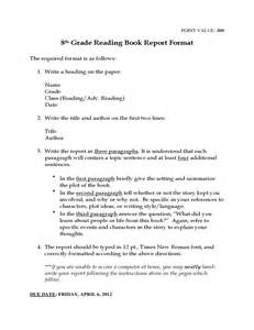 8th Grade Book Report Outline 8th Grade Reading Book Report Template Free Download