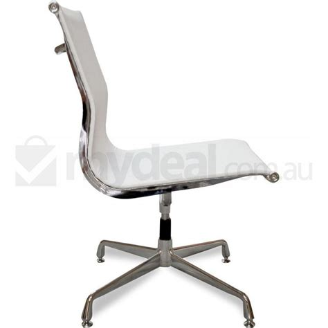 Office Chairs No Arms by No Arms White Mesh Office Chair Eames Replica Buy
