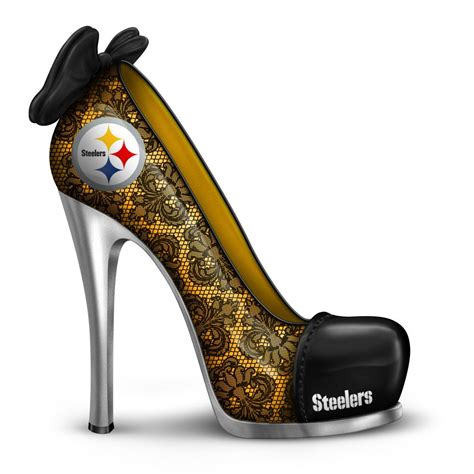 steelers high heels nfl licensed pittsburgh steelers high heel shoe figurine