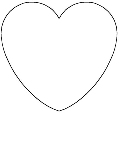 coloring page heart shape heart shaped coloring pages