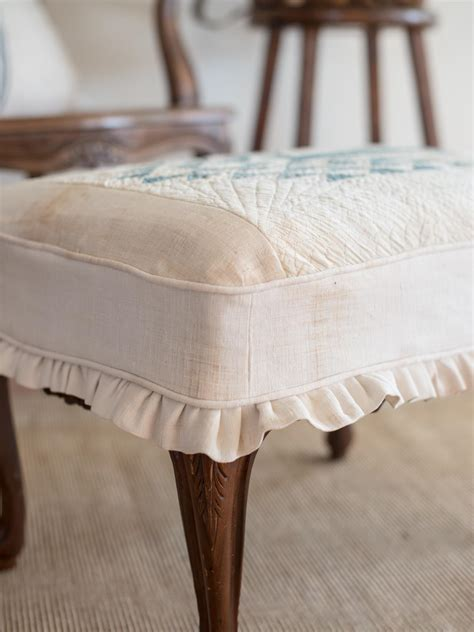how to slipcover an ottoman how to slipcover an ottoman hgtv