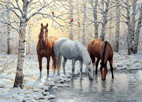 free printable horse jigsaw puzzles winter trio jigsaw puzzle puzzlewarehouse com