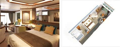 Floor Plan Bed by Azura Cabins Luxury Suites Aboard This Ship Sovereign