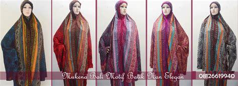 Shanaz Bergo mukena padang mukena bali motif batik