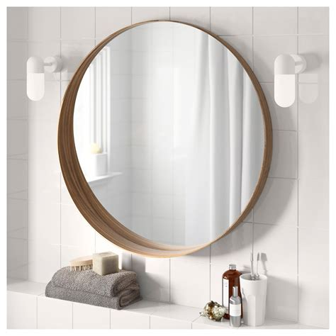 bathroom mirrors dutch art gallery stockholm mirror walnut veneer 80 cm ikea