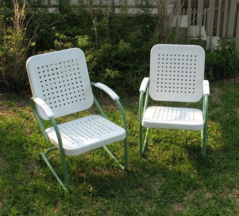 antique outside chairs vintage metal outdoor furniture www pixshark
