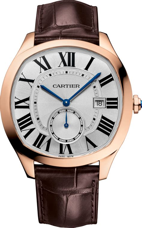 cartier 2 jarum transparant crwgnm0003 drive de cartier pink gold leather