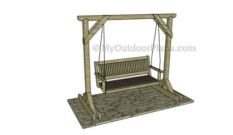 a frame swing stand plans porch swing stand plans myoutdoorplans free