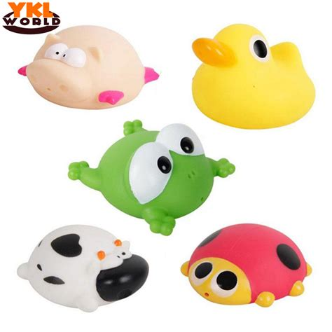 Yklworld bath toy in the bathroom baby toy for children water spray animal soft rubber toy duck