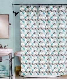 White And Grey Shower Curtain » Home Design 2017