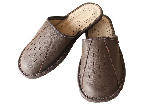 mens size 13 slippers new mens brown leather slippers shoes size 7 8 9 10 11 12
