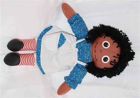 black doll pic playskool raggedy 22 quot ethnic black doll with printed