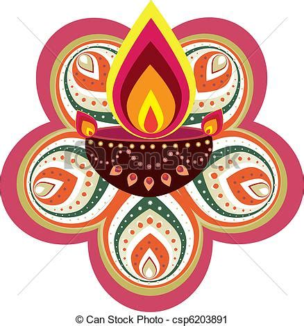 Decoration For Deepavali At Home Vector Clip Art Of Pattern Stock Vector Illustration