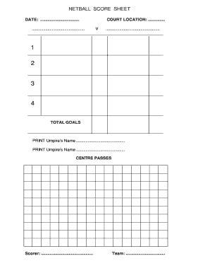 netball umpiring score cards template netball score sheet home fixtureslive fill